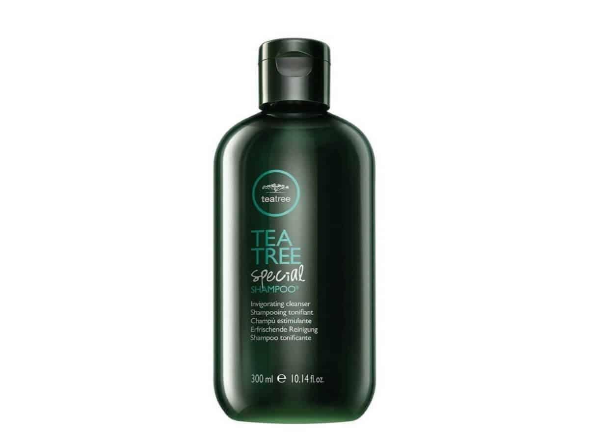 Tea Tree shampoo bottle.