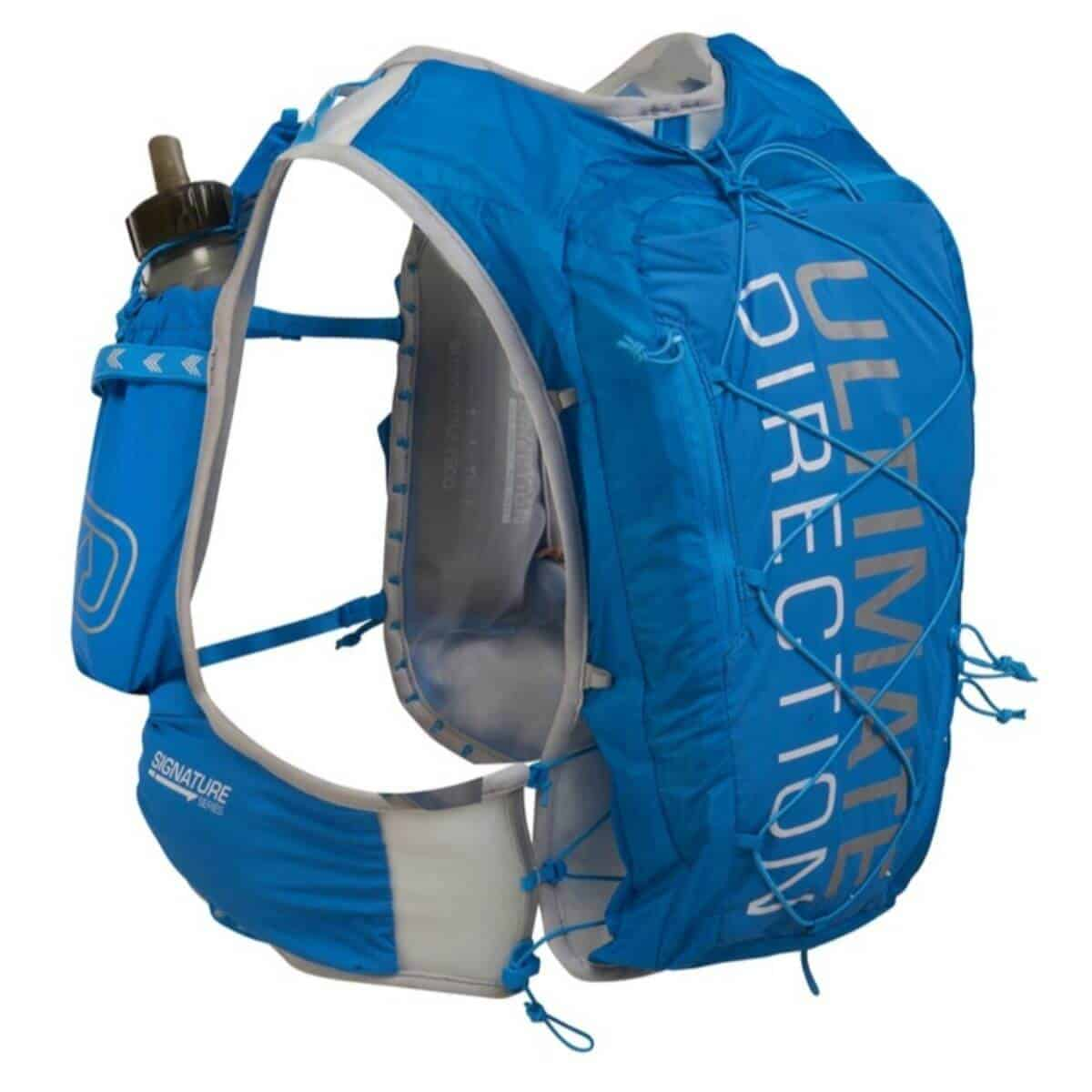 Blue Ultimate Direction hydration back.