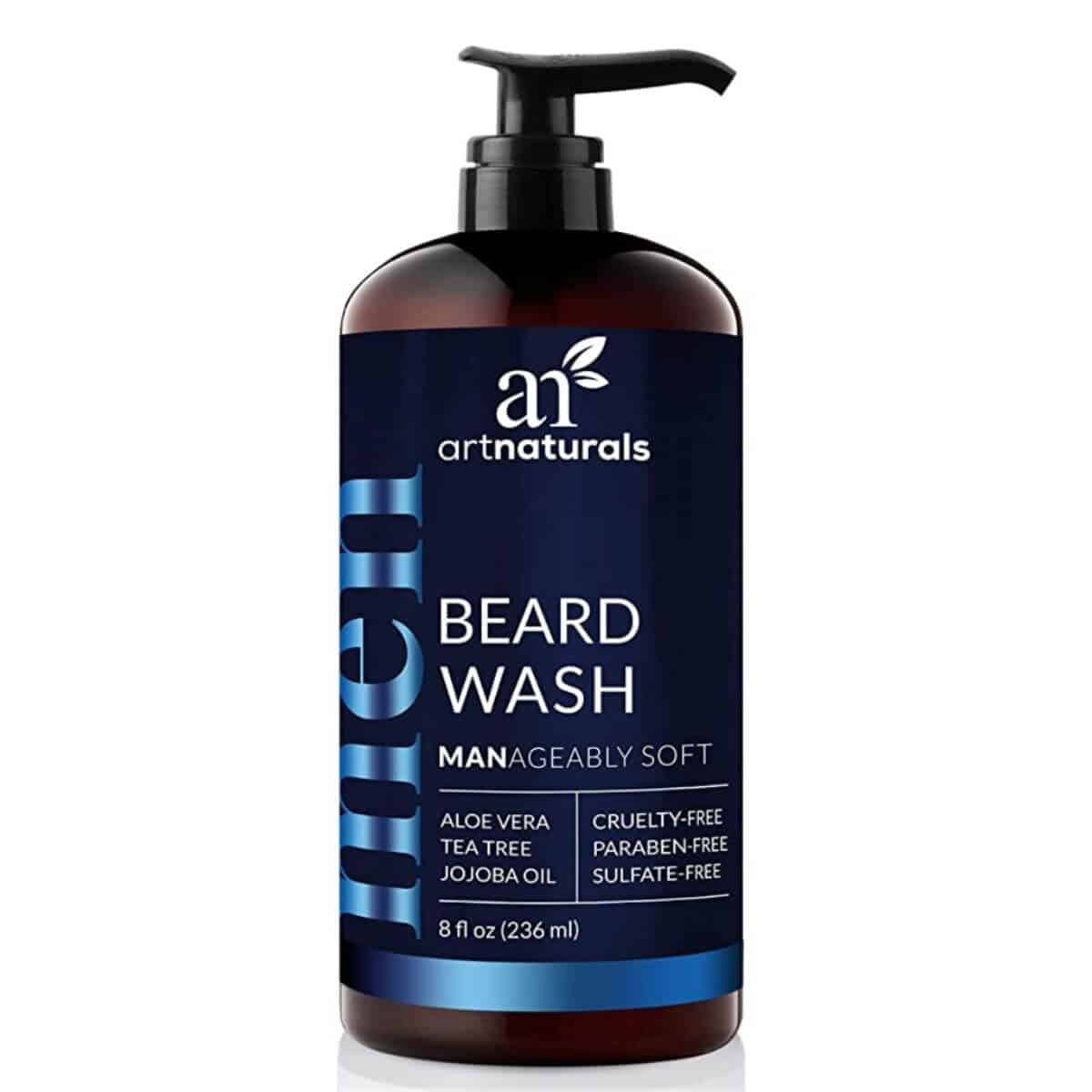 Bottle of beard wash.