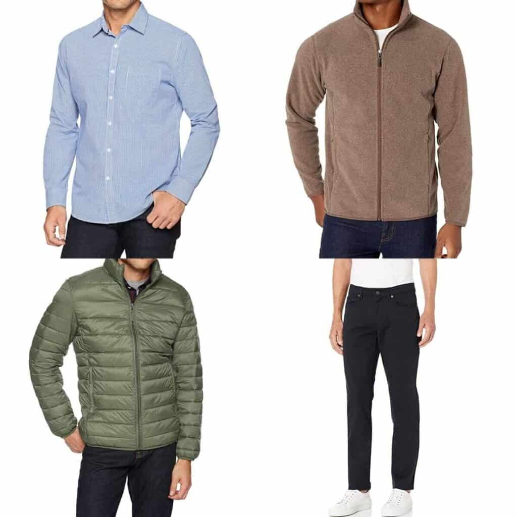 Four outfit examples from Amazon.