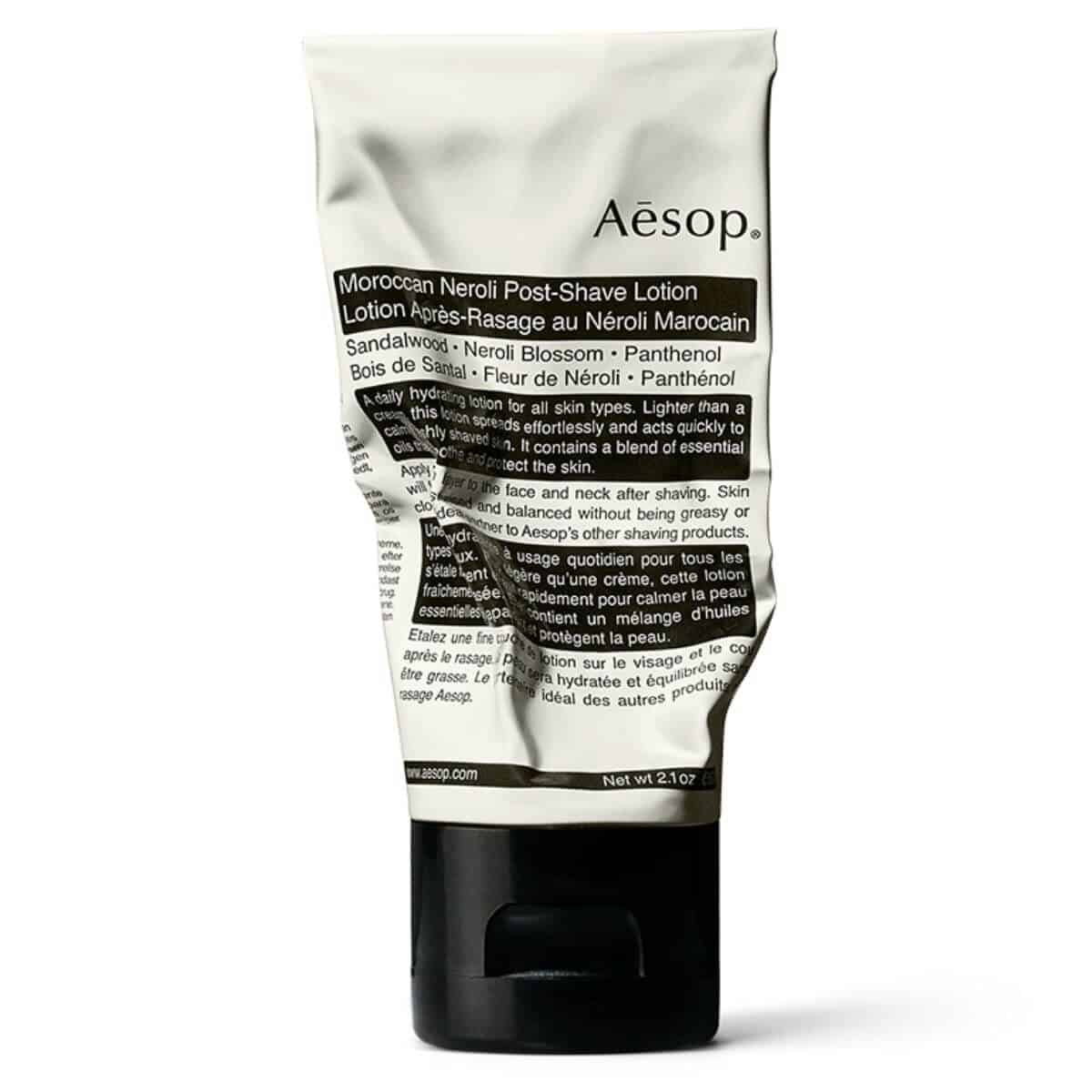 Aesop post-shave lotion.