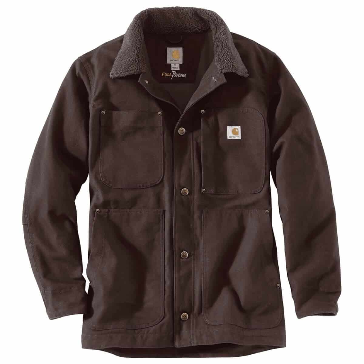 Carhartt brown chore coat.