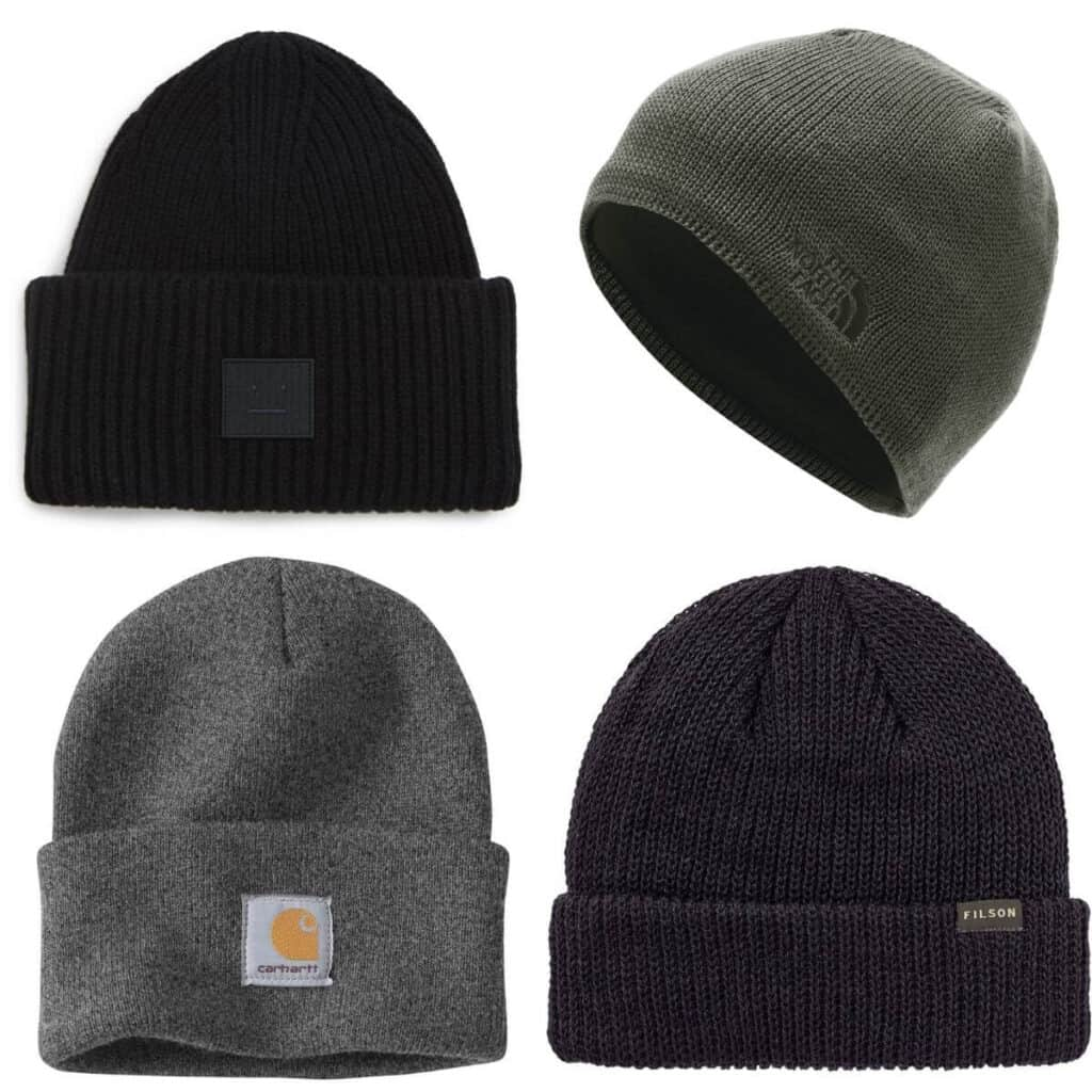 Four different beanies.