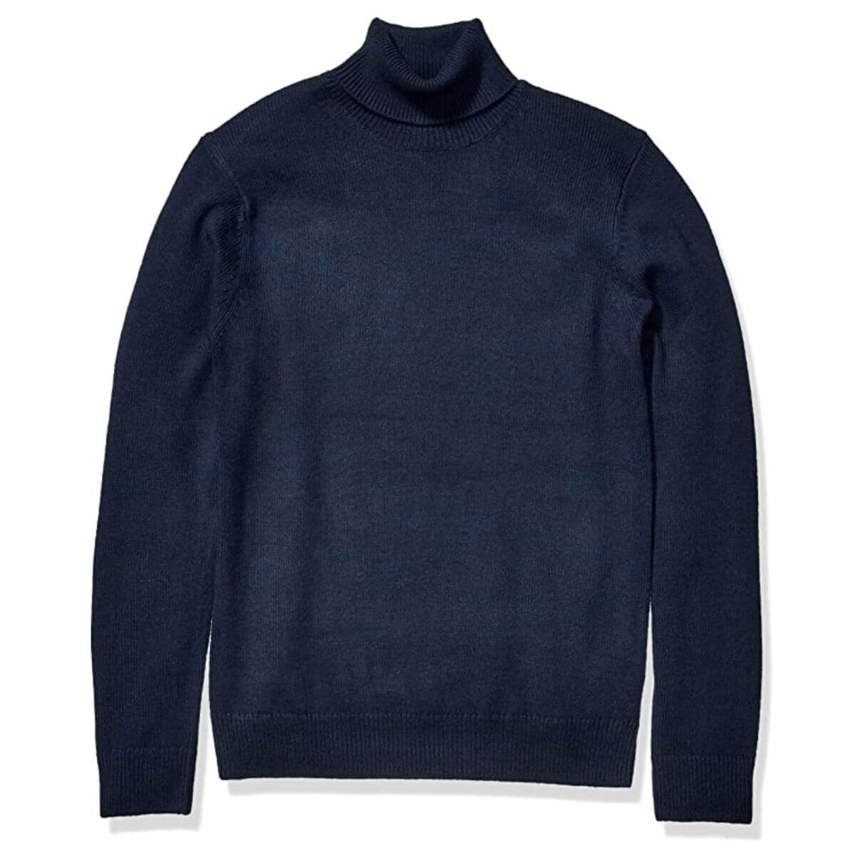 Navy turtleneck sweater by Goodthreads.