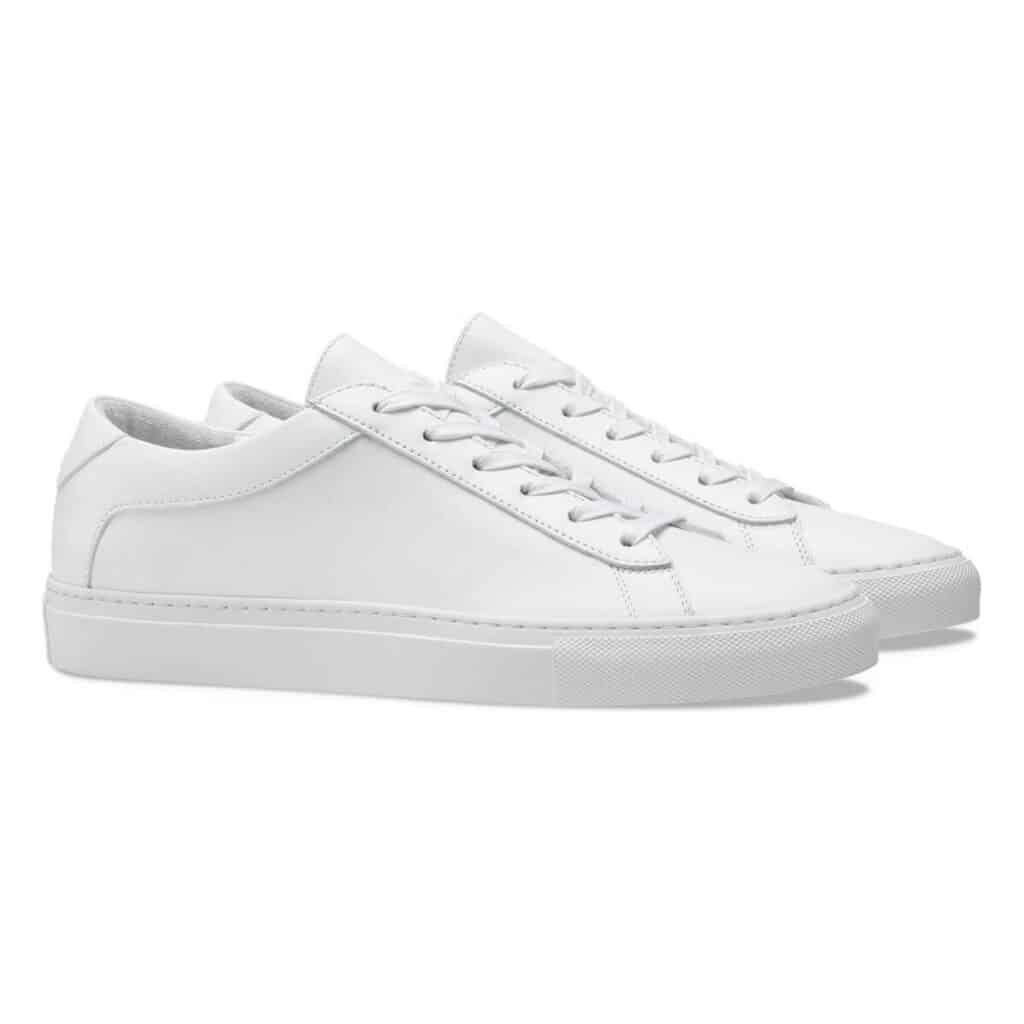 KOIO white sneakers.