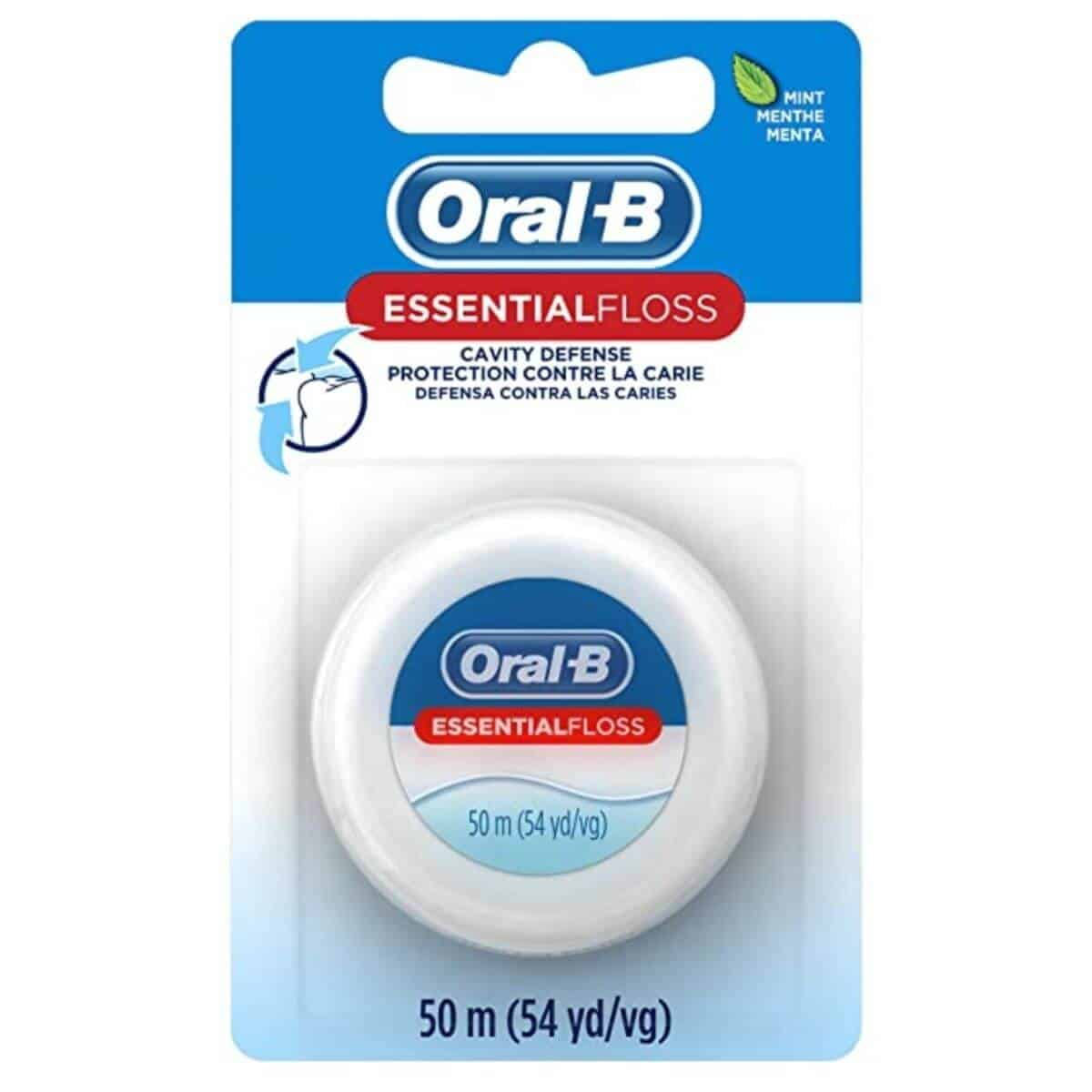 Oral-B floss in its package.