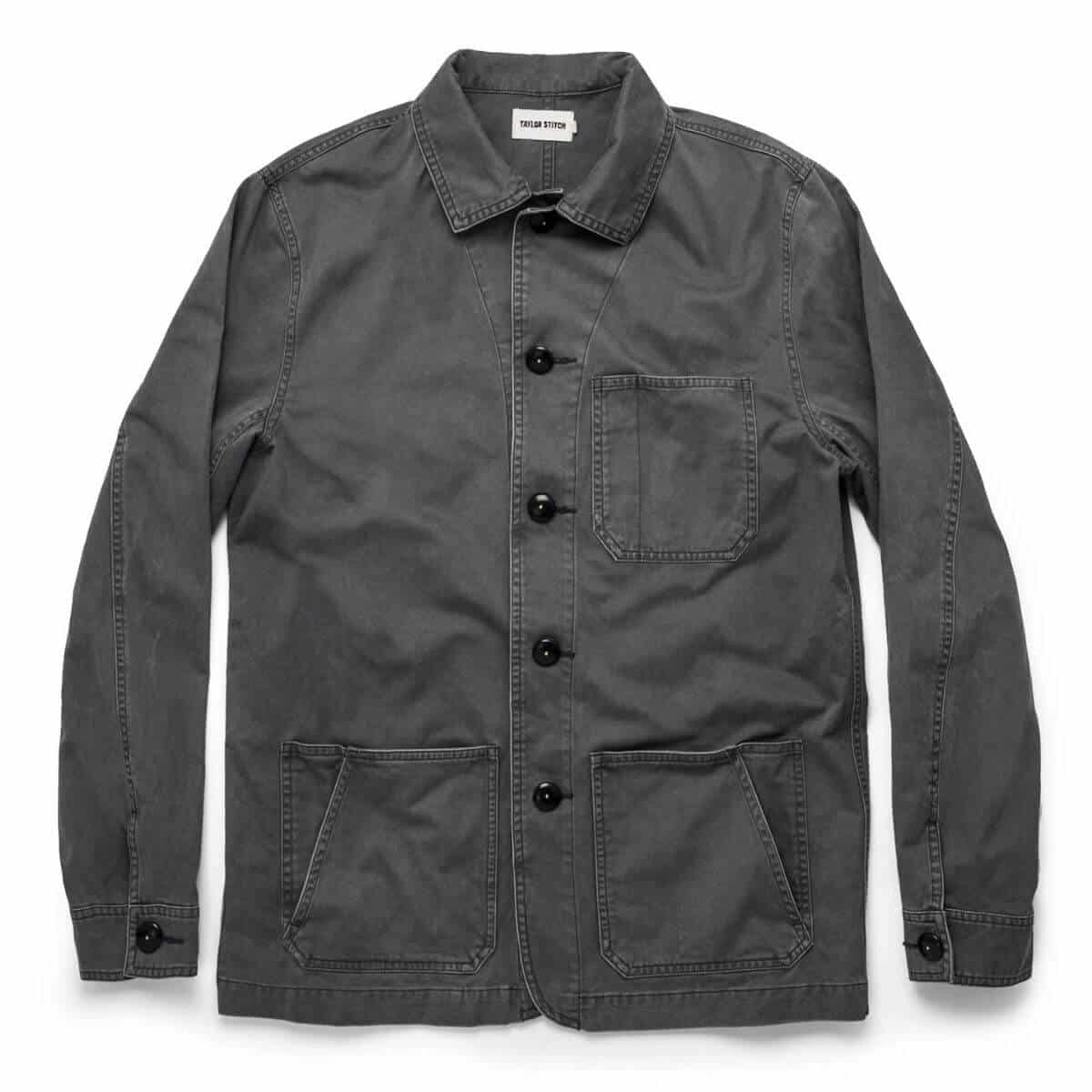 Taylor Stitch grey chore jacket.