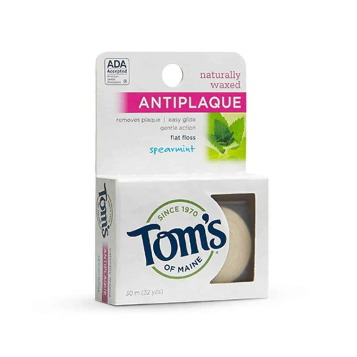Tom's of Maine floss in its packaging.