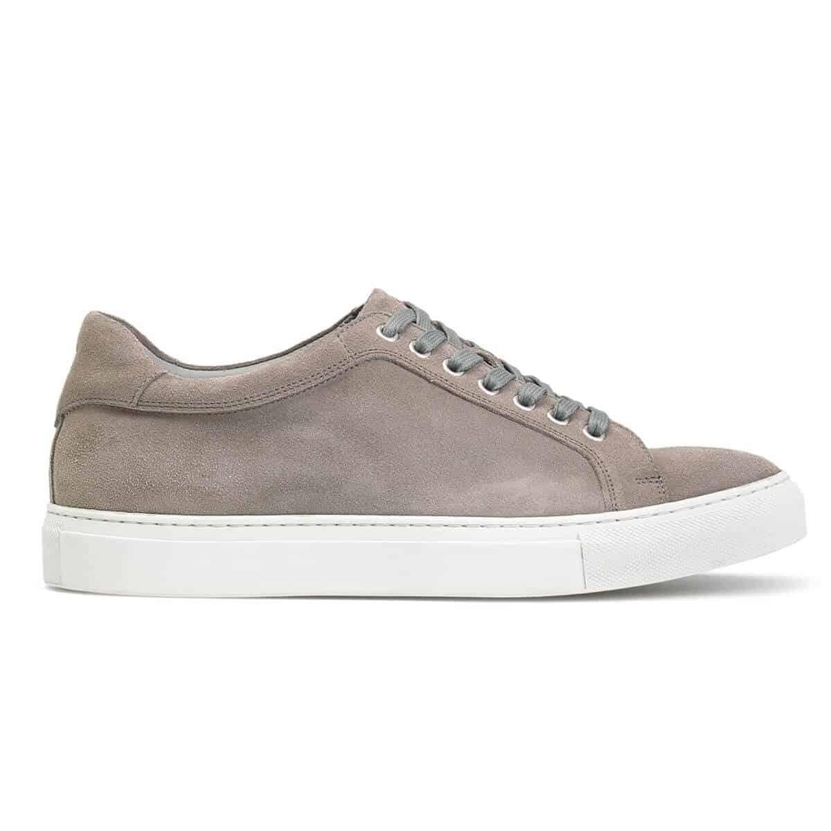 Trask Rigby light grey suede sneaker.