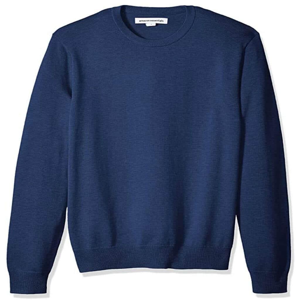 Navy blue crewneck sweater from Amazon.