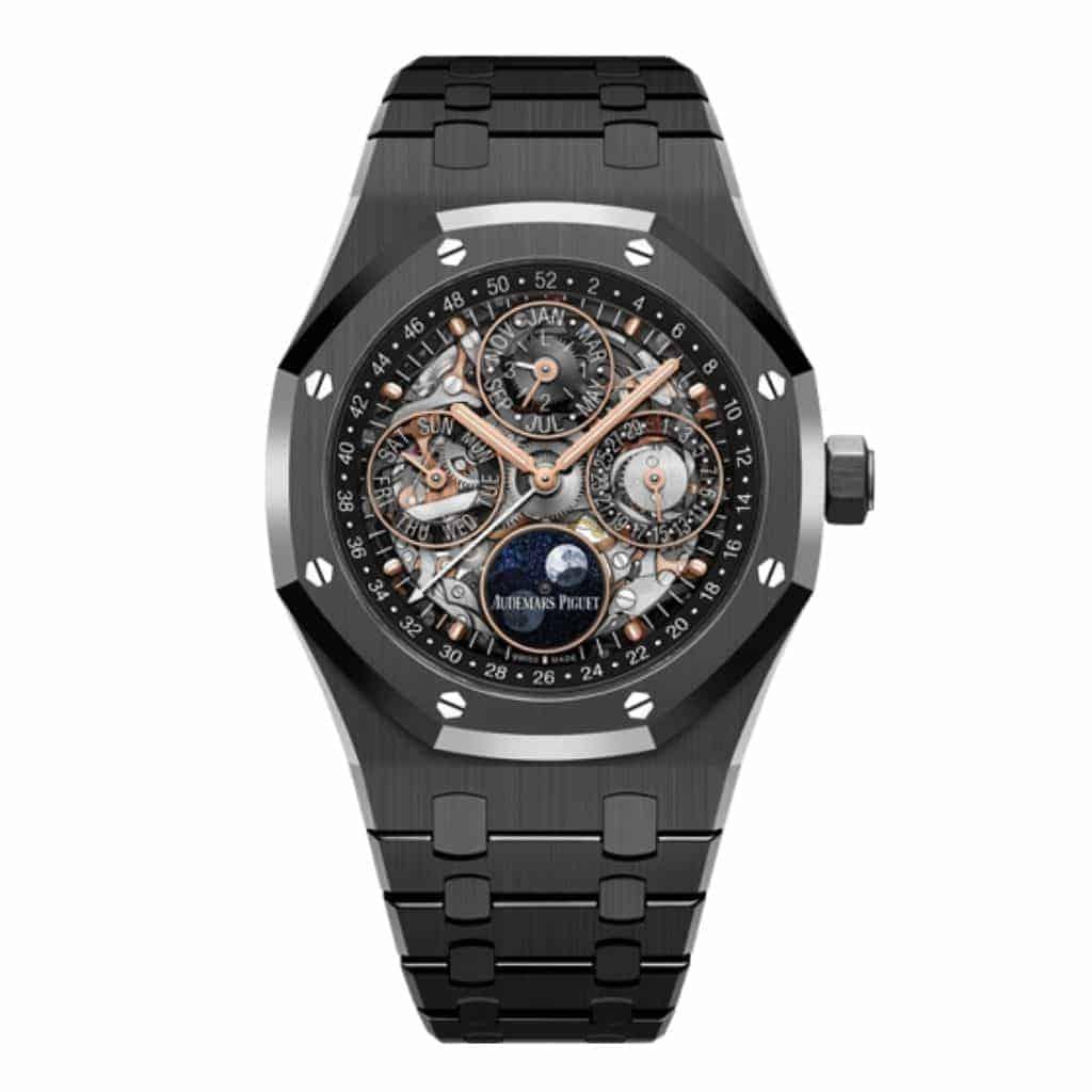 Audemars Piguet Royal Oak watch with a black ceramic case.
