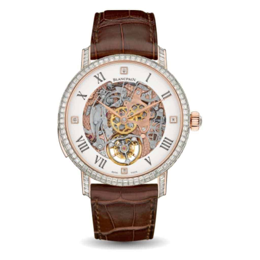 Blancpain Carrousel Repetition Minutes watch with a brown leather strap.