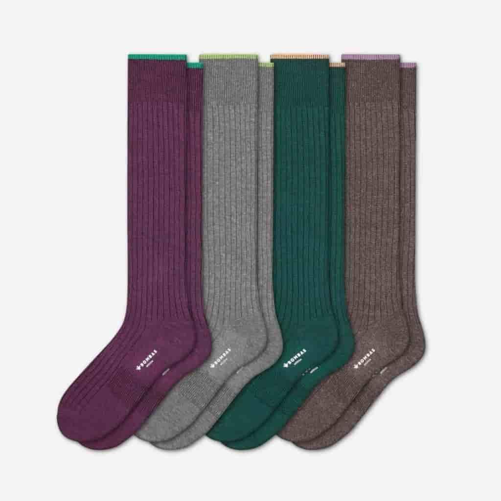 Four-pack of Bombas dress socks.