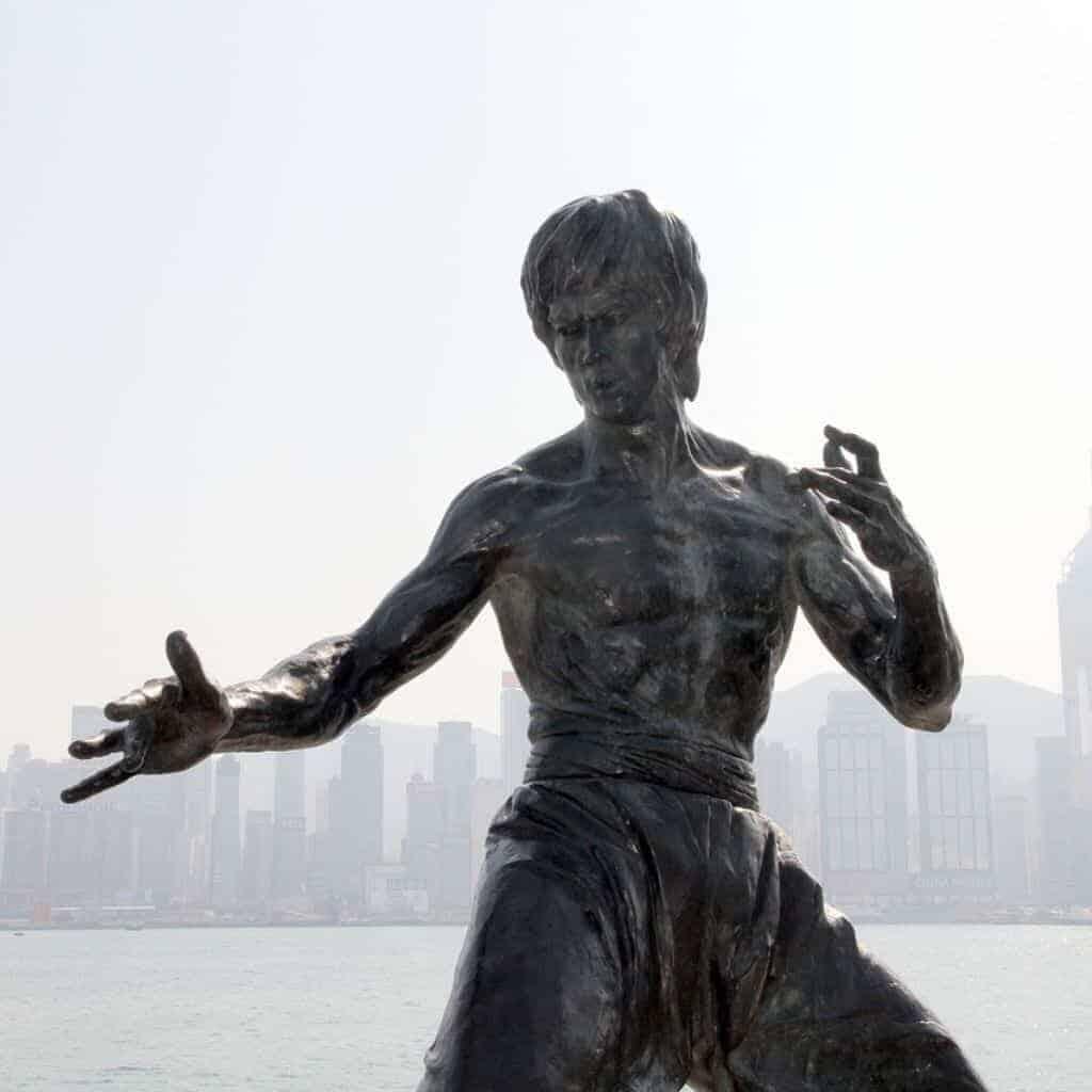 Bruce Lee monument.