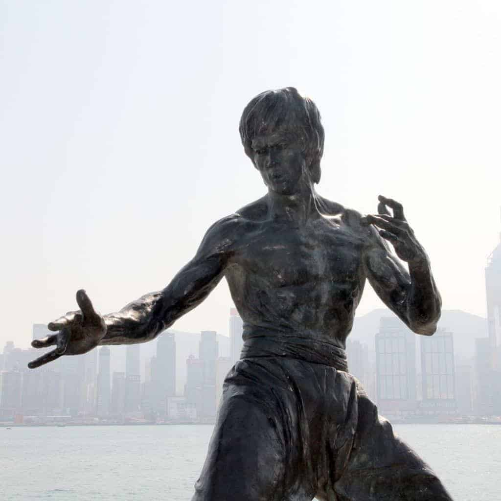 Bruce Lee monument.
