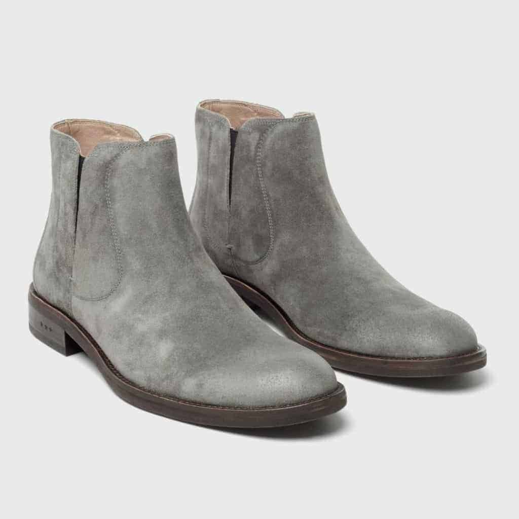 Pair of grey suede Chelsea boots.