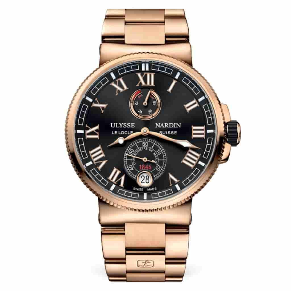 Gold Ulysse Nardin Marine Chronometer watch.