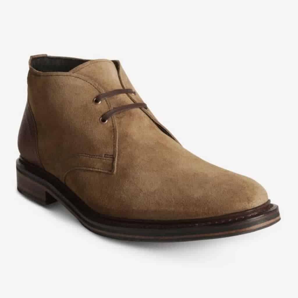 Allen Edmonds light brown suede chukka boot.