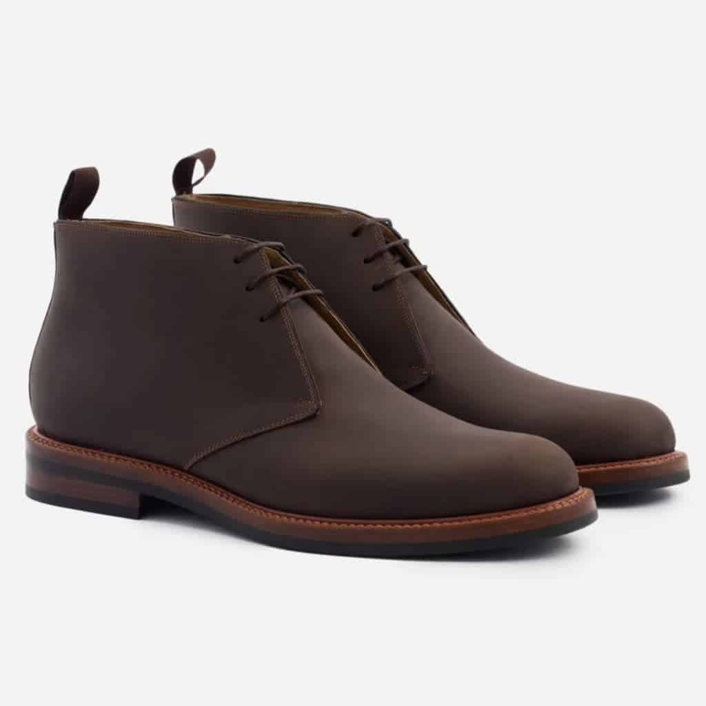 Brown chukka boots by Beckett Simonon.
