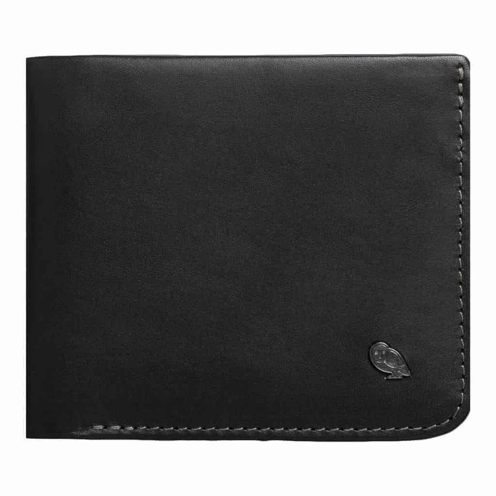 Black leather Bellroy Hide and Seek wallet.