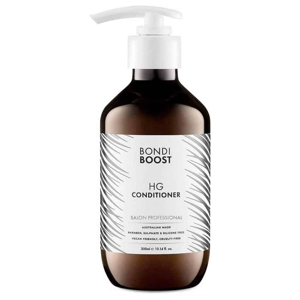 Bottle of Bondiboost hair conditioner.