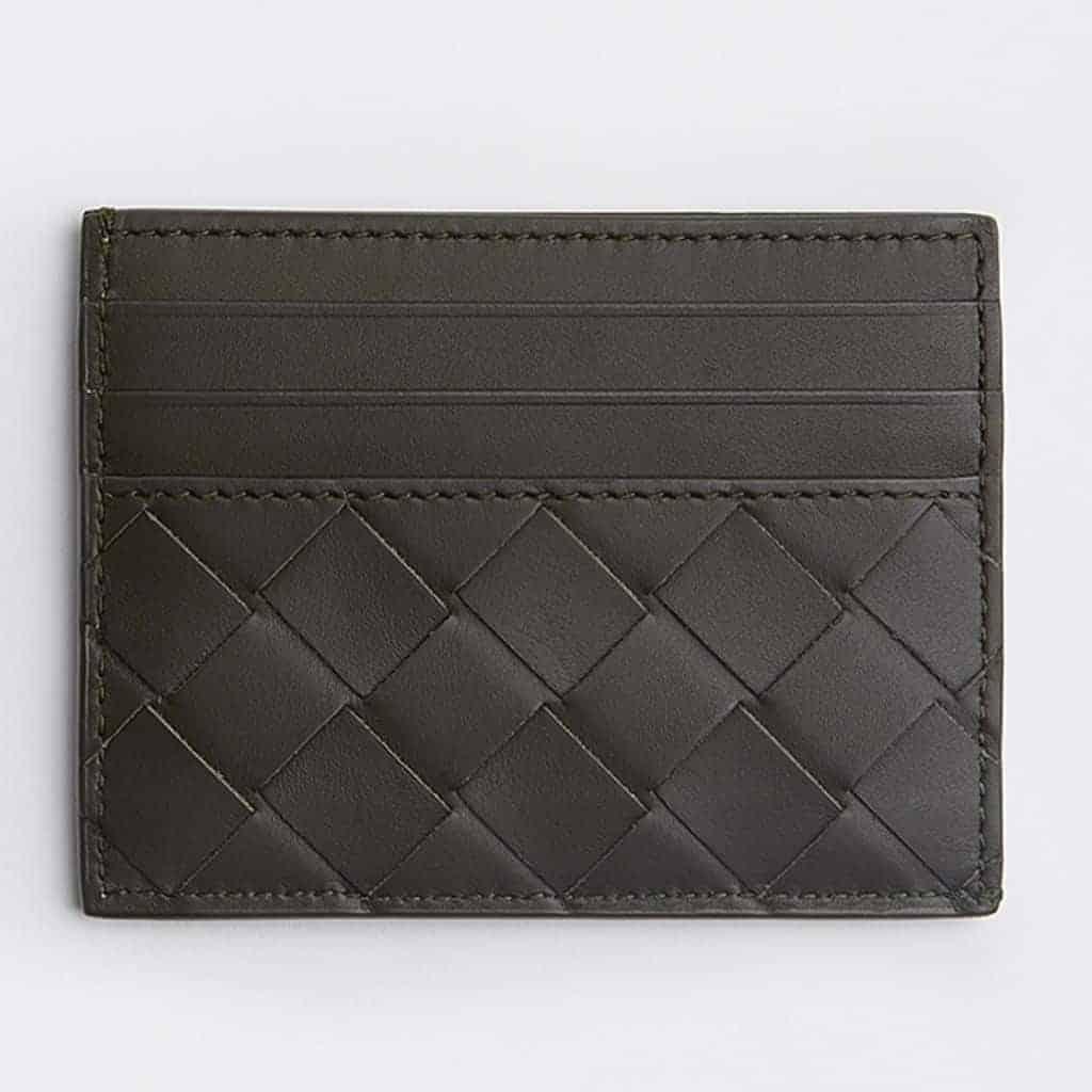 Bottega Veneta woven card case.