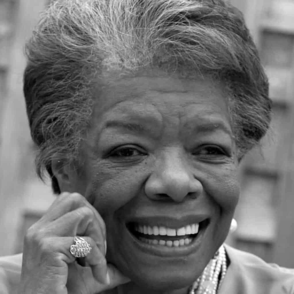 Greyscale headshot of Maya Angelou.
