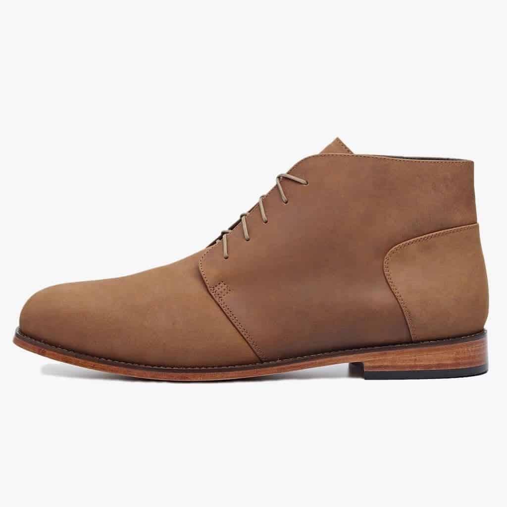 Oak brown chukka boot by Nisolo.