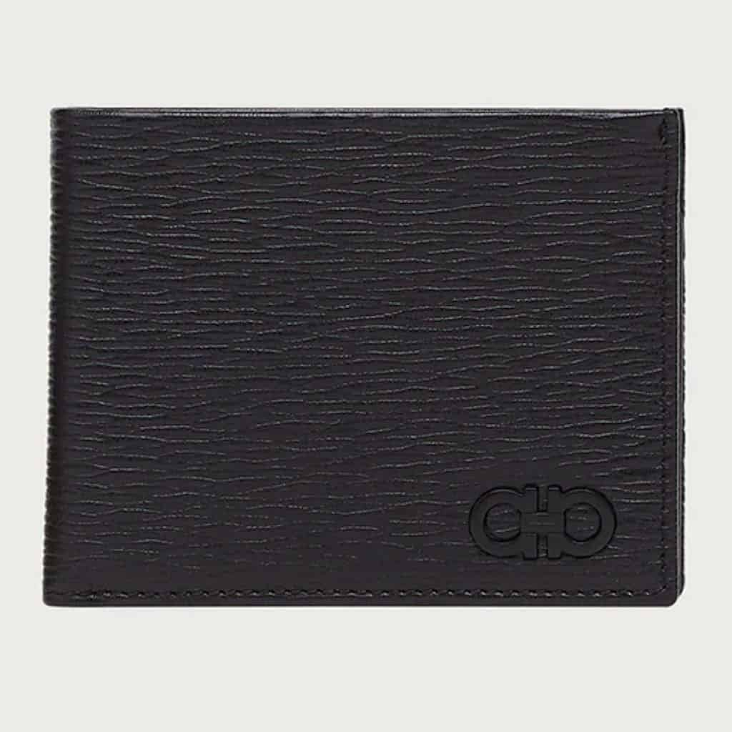 Salvatore Ferragamo Gancini leather wallet.