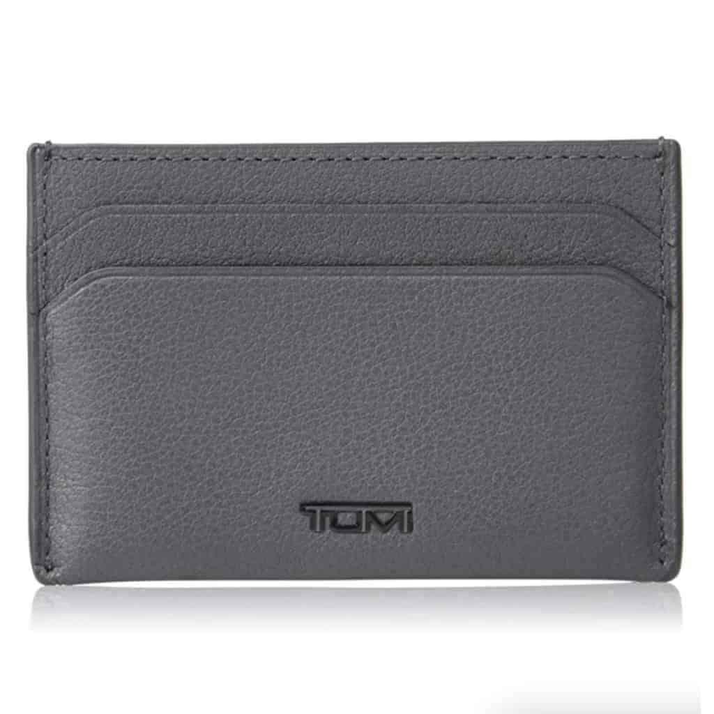 Tumi grey card case wallet.