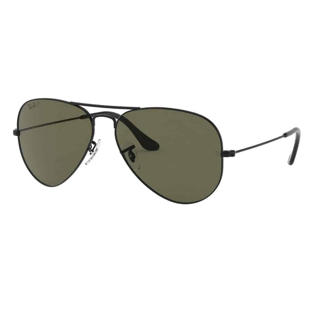 Ray-Ban aviator sunglasses.