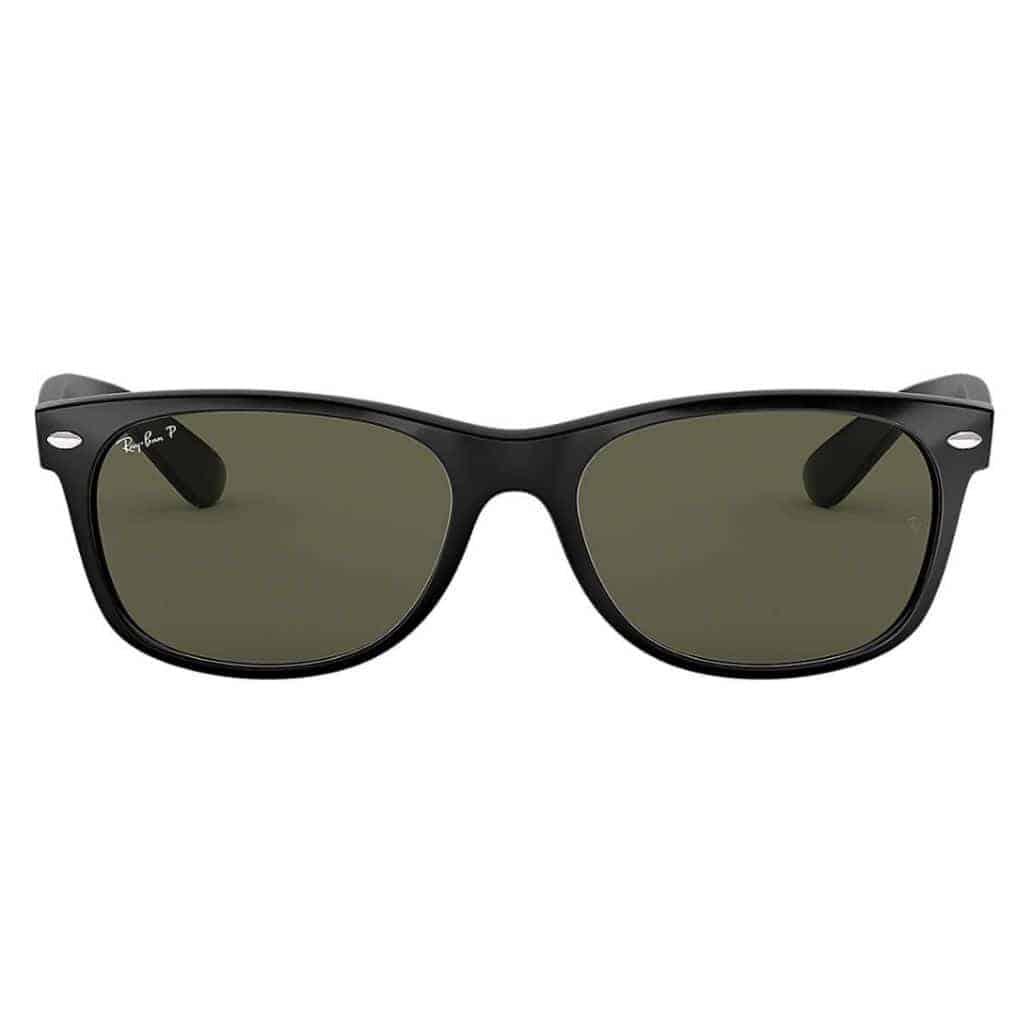 Black Ray-Ban New Wayfarer sunglasses.