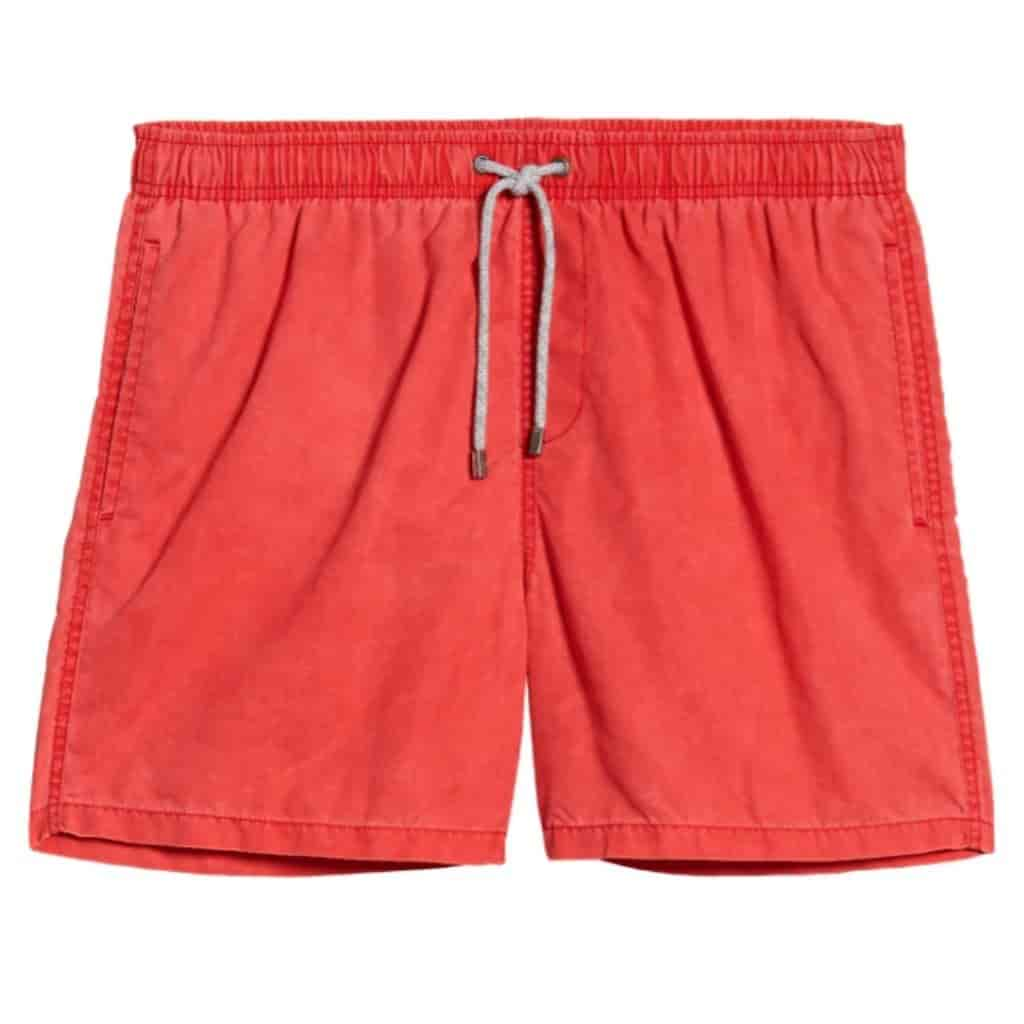 Red swim trunks by Vintage Summer.