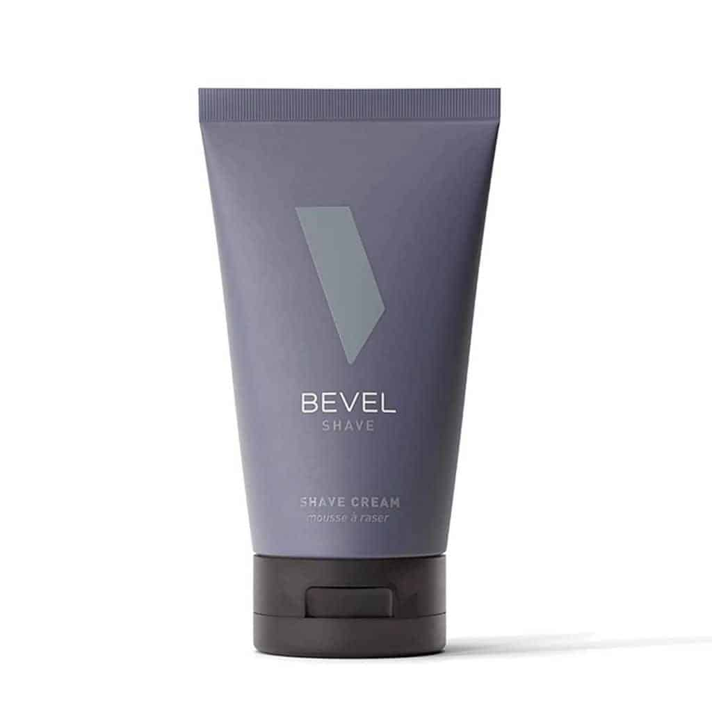 Bottle of Bevel shave cream.