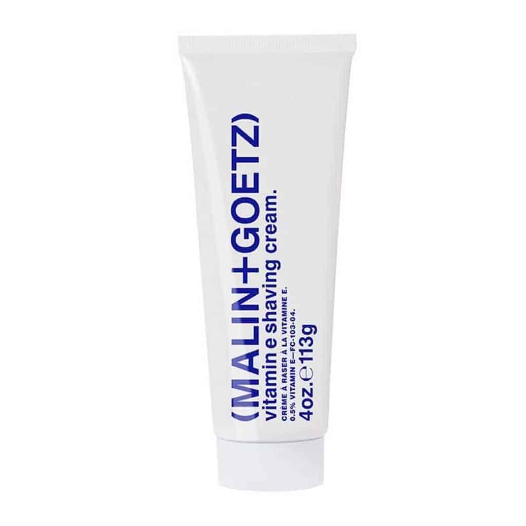 Tube of Malin and Goetz shaving cream.