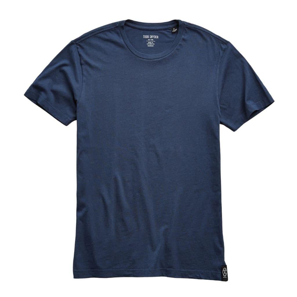 Navy blue t-shirt.