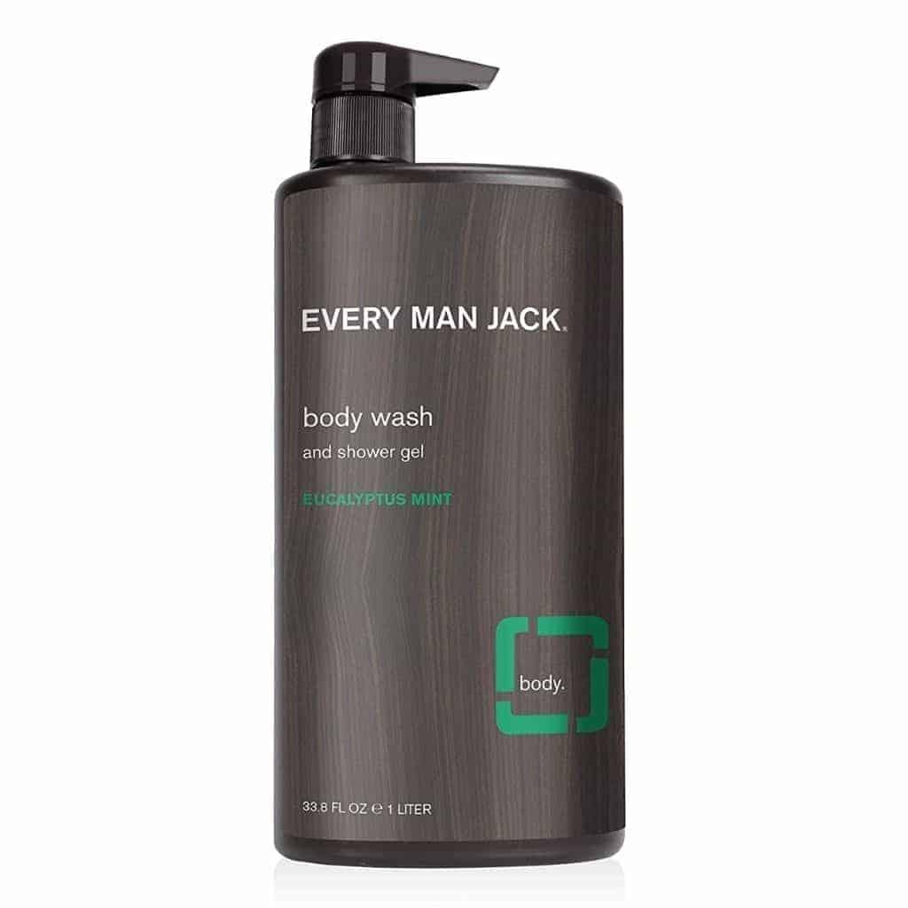 Bottle of Every Man Jack body wash.