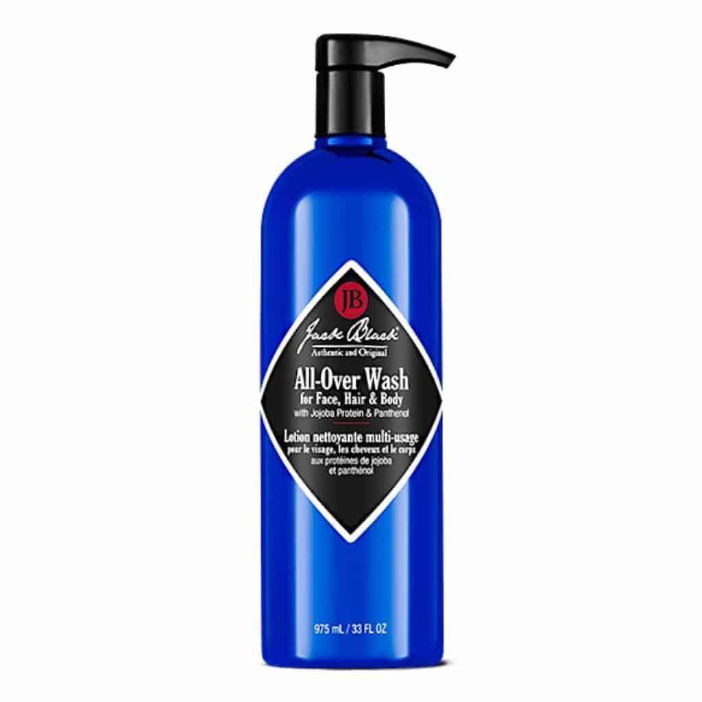 Bottle of Jack Black body wash.