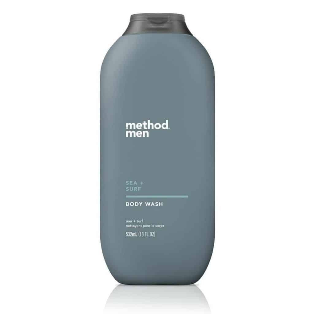 Bottle of Method Men body wash.