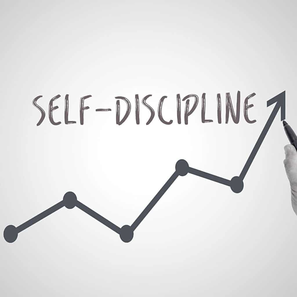 Self-discipline written out with a chart underneath.