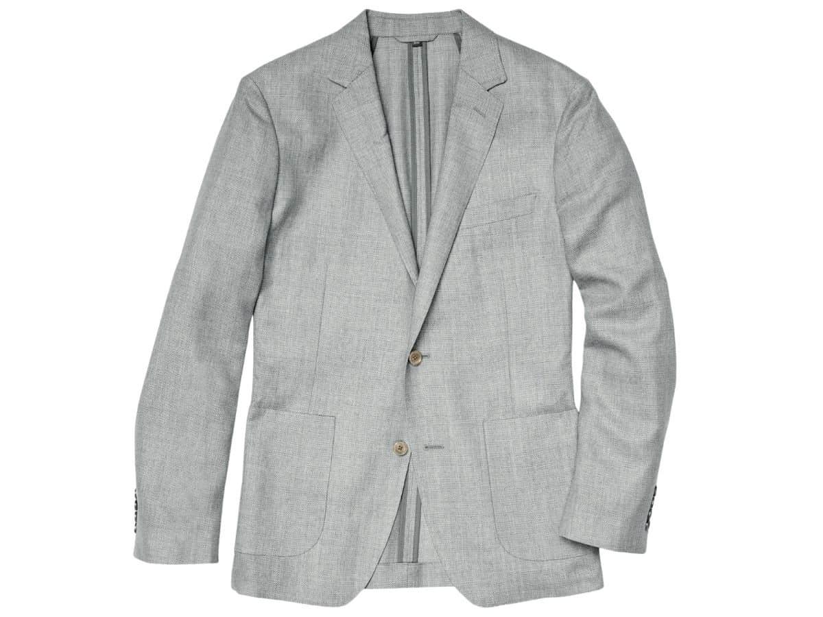 Grey Bonobos unstructured blazer.