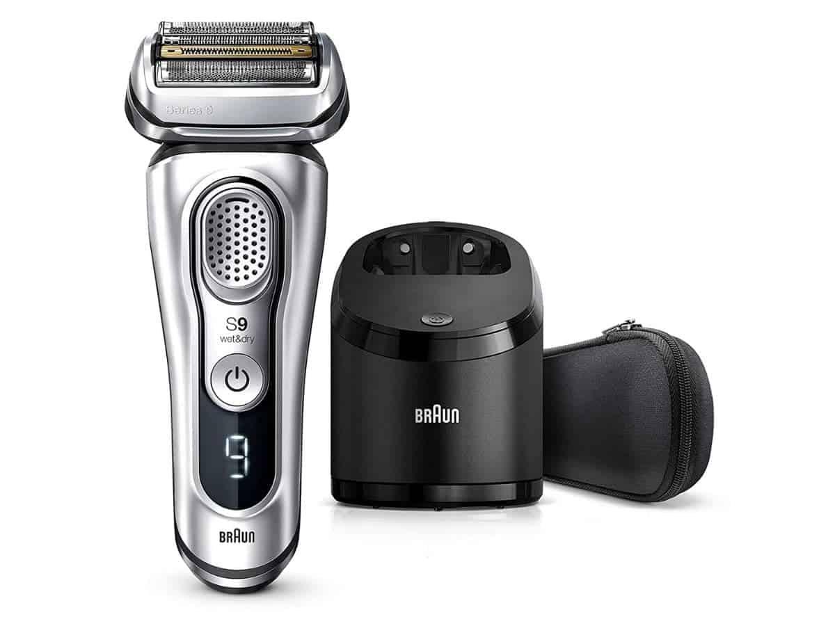 Braun Series 9 electric shaver kit.