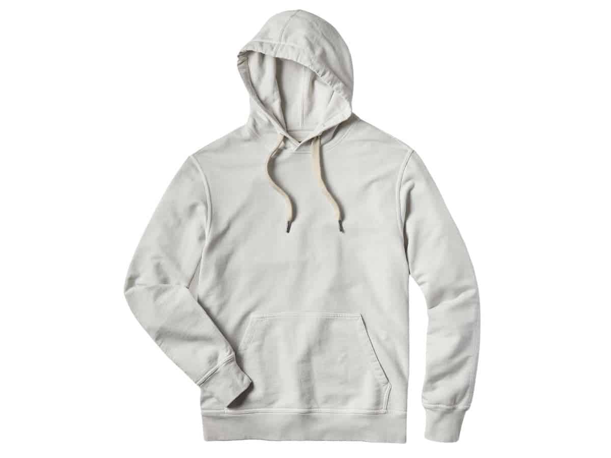 Buck Mason pullover hoodie.
