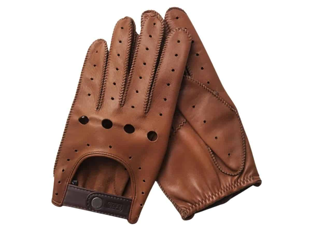 Cafe Leather brown driving gloves.