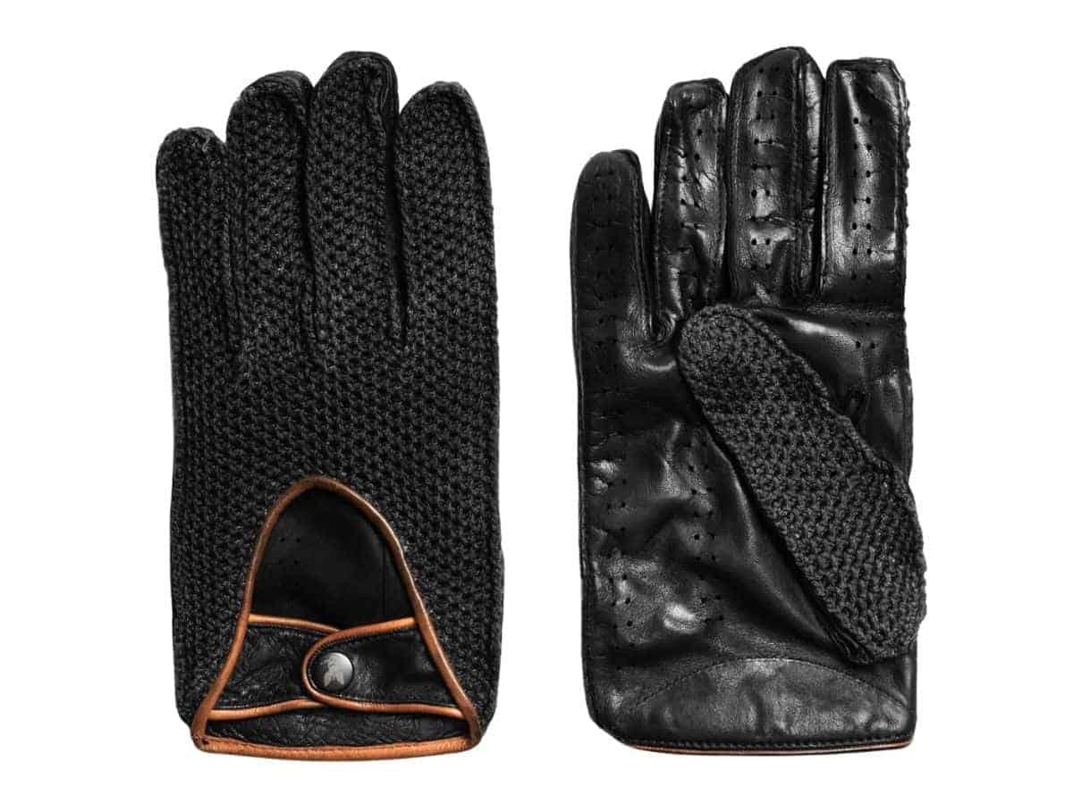 Pair of Christophe Fenwick driving gloves.