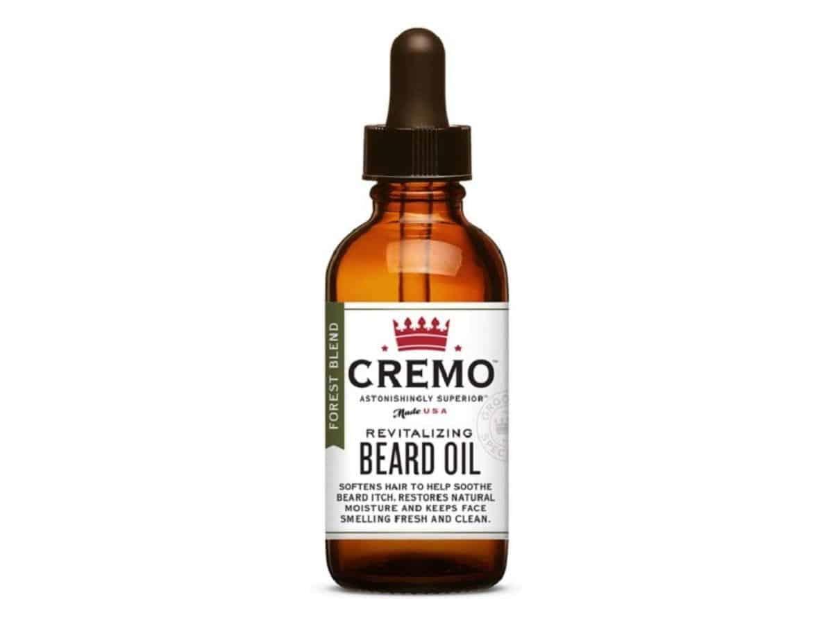 Bottle of Cremo beard oil.