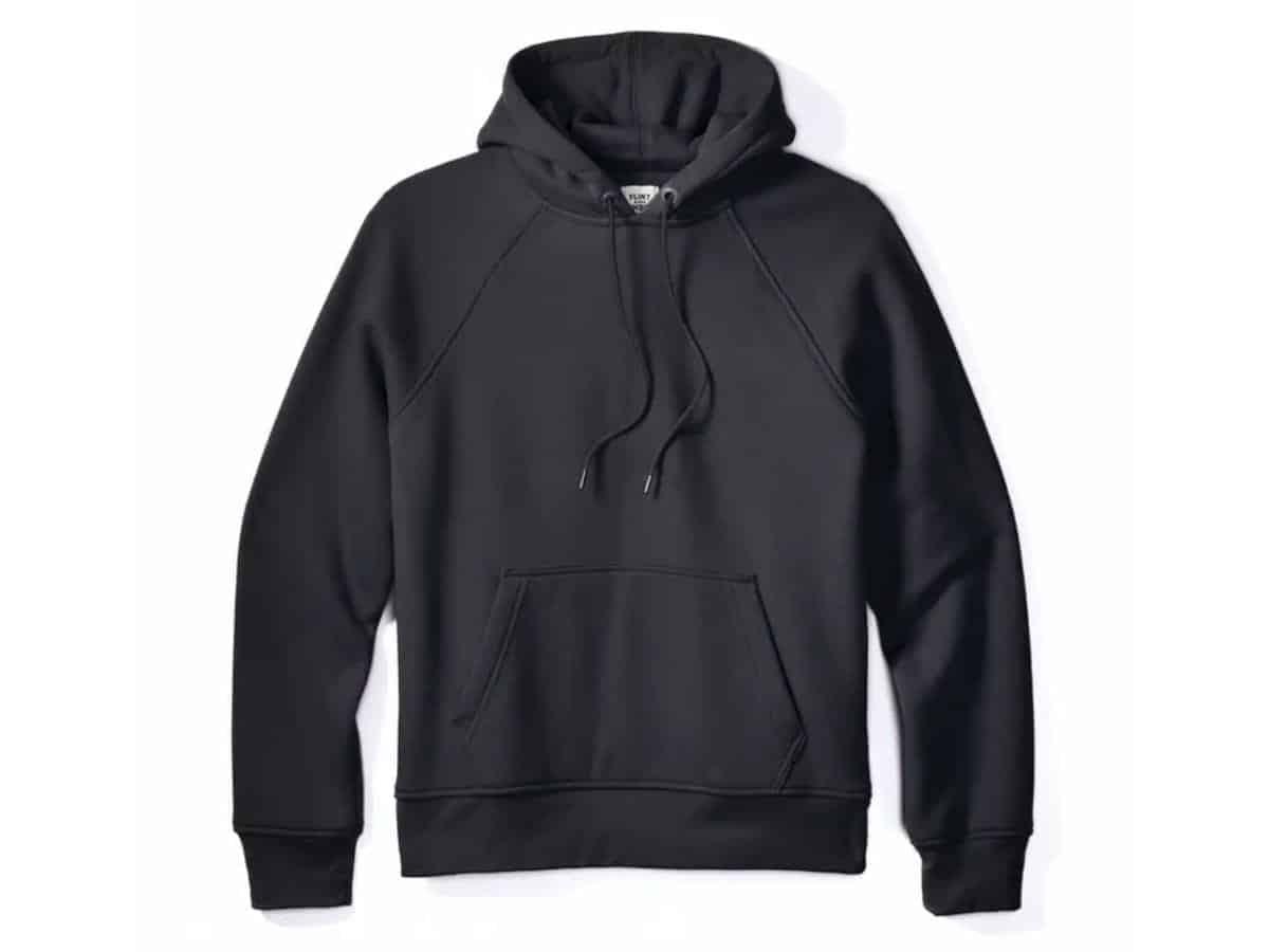 Flint and Tinder black pullover hoodie.