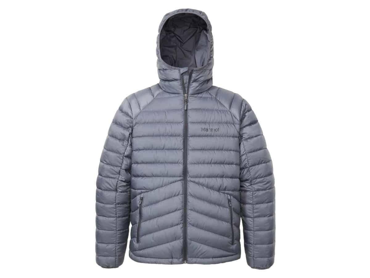 Marmot hooded puffer jacket.