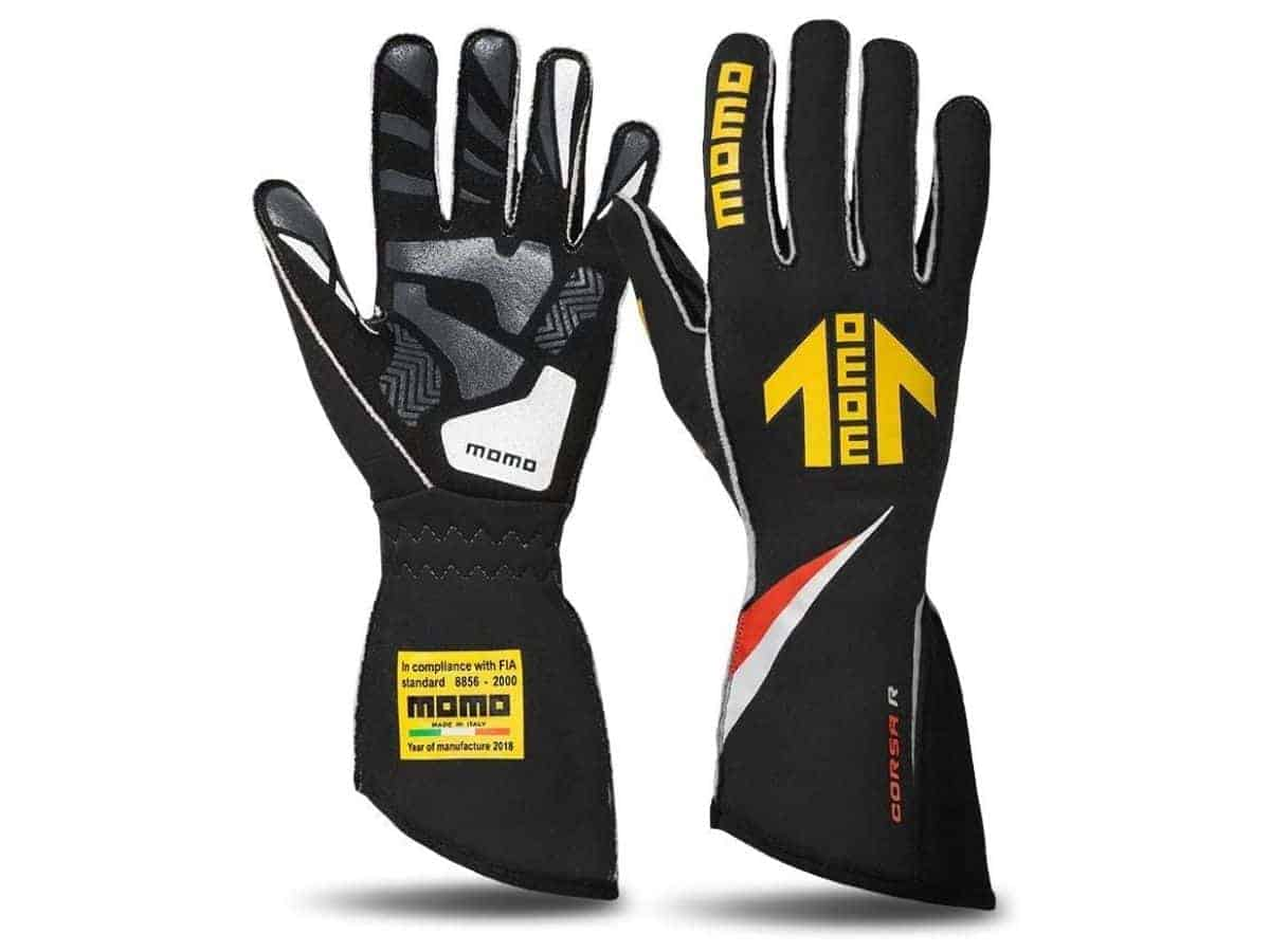 MOMO racing gloves.