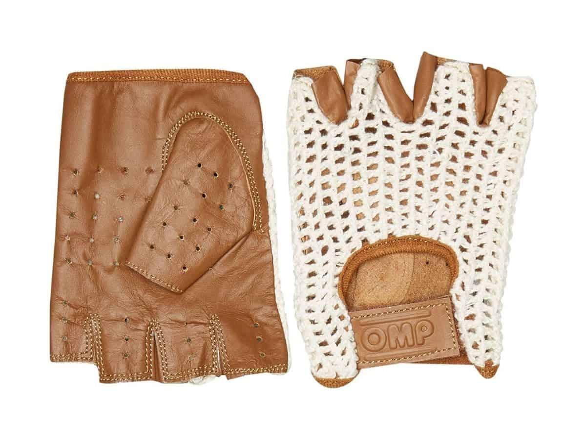 OMP Tazio fingerless leather driving gloves.